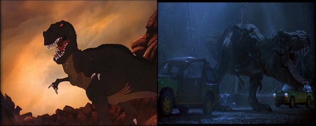 File:Sharptooth and the Jurassic park tyrannosaurus.png