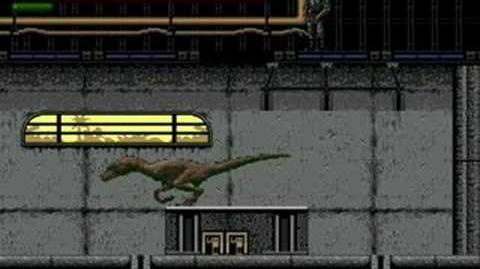 Jurassic Park (Sega Genesis) - (Raptor Mission 5 - The Visitors Center Hard Difficulty Ending)