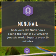 JW monorail map info