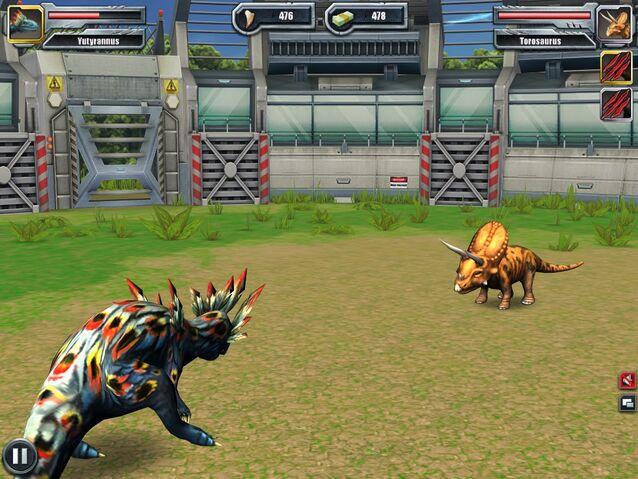 File:Jurassic Park Builder Battle Arena Yutyrannus1615 Nov. 03, 2015.jpg