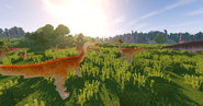 Gallimimus herd