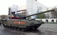 T-14 Armata Smoke Grenade Dischargers Circled