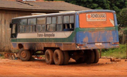Off-road bus in south America