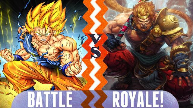 File:Battle Royale Son Goku vs Sun Wukong.png