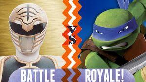 White Ranger vs Leonardo BR