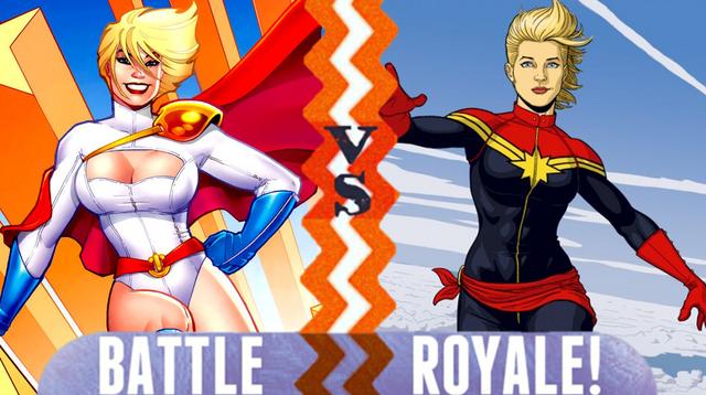 File:Battle Royale Power Girl VS Captain Marvel.png