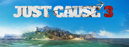 Just Cause 3 island and logo