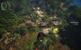 Kampung Kilang Papan from helicopter