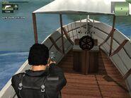 Trawler recreational, inside view.