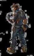 JC3 Rico artwork (clear background, looking over left shoulder)