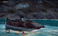 CS Baltdjur showing amphibious capabilities