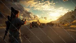 Just Cause 3 leaked screenshot (road shooting)