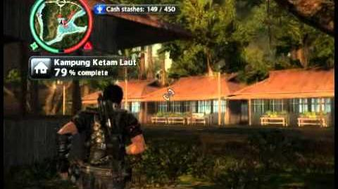 Just Cause 2 - Kampung Ketam Laut - civilian village