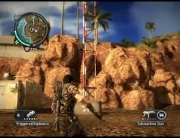 Just Cause 2 destroying broadcast tower 09