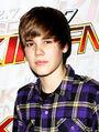 Justin Bieber backstage at Grammy awards 2010