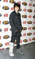 Justin Bieber 2009 Z100 Jingle Ball red carpet
