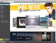 Believe Acoustic ad in Spotify
