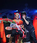 Justin performing One Less Lonely Girl on Z100 Jingle Ball 2009