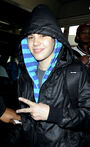 Justin Bieber at Miami International Airport on February 3, 2010