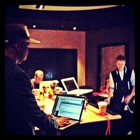 kennyhamilton: Putting the finishing touches on the album and it's gonna be special! @justinbieber and @kanyewest #Believe (via <a rel=