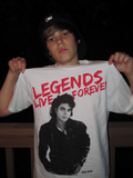 Justin Bieber wearing a Michael Jackson shirt