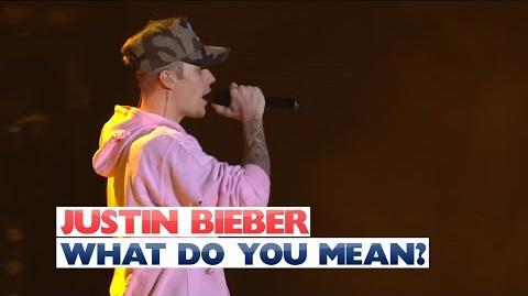 Justin Bieber - 'What Do You Mean?' (Jingle Bell Ball 2015)