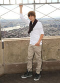 Justin Lights Empire State Building in 2009