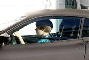 Justin drives a Ferrari F430 in Miami 2010