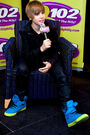 Justin Bieber promoting his CD 'My World 2.0' at the Q102 radio station