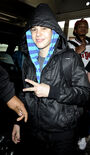 Justin at Miami International Airport on February 3, 2010