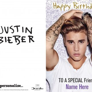 Justin Bieber Birthday Card - Any Relation