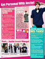 Tiger Beat November 2010 Get personal with Justin