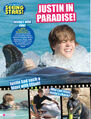 Tiger Beat September 2010 Justin in paradise