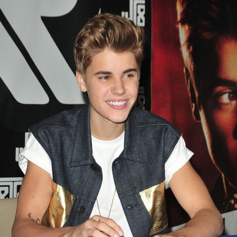 Justin Bieber signing Believe at J&R in NYC on June 19, 2012