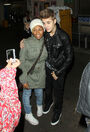 Justin Bieber with a fan