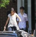 Selena Gomez leaves Justin Bieber's grandparents' house 2