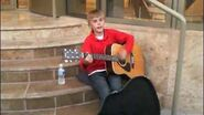 Justin Bieber singing I'll Be at Avon Theatre