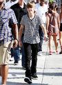 Justin Bieber walking on the streets in LA 2010