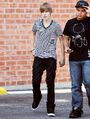 Justin Bieber walking in LA 2010