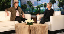 Justin Bieber and Madonna at Ellen