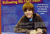 Popstar June 2010 following his own path