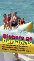 Snapchat Biebers go bananas