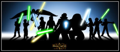 Silhouette group Yavin