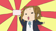 Ritsu with the fan club card