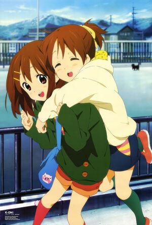 Ui hugging Yui