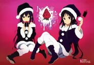 Azusa and Mio in christmas outfits