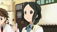 Yōko with her backscratcher