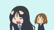 Mio won't show her forehead