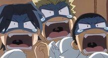 Scared-of-Takumi Moron Trio as waiters