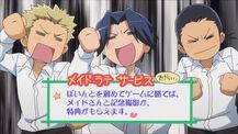 Cheerful moron trio